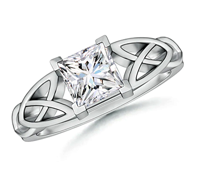 Celtic knot settings solitaire engagement ring for all Shapes