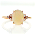 Picture of 1.50 carat Opal engagement ring with diamonds