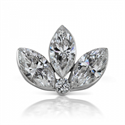 Picture of Lotus martquise diamond earring 0.36 carats