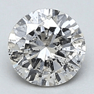 Picture of 0.31 Carats, Round Diamond with Very Good Cut, F color SI2 clarity, Certified by EGL