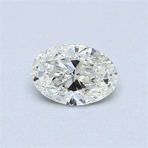 Picture of 0.50 Carats, Oval Diamond with  Cut, J Color, SI1 Clarity and Certified by GIA