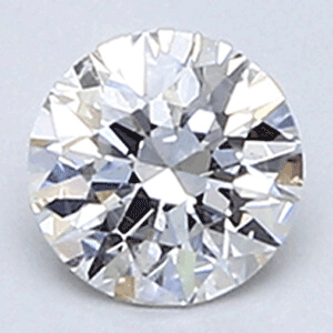 Picture of 0.31 E SI1 round natural diamond ideal cut, certified by CGL