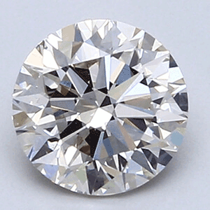 Picture of 1.02 Carats, Round natural Diamond with Ideal Cut, H Color, VVS2 Clarity and Certified by CGL