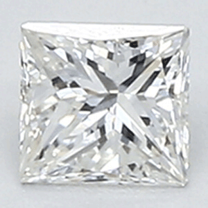 Picture of 0.35 Carats, Princess Diamond with Very Good Cut, G Color, VS1 Clarity and Certified By CGL