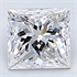 0.25 Carats, Princess Diamond with Very Good Cut, E Color, VVS2 Clarity and Certified By CGL, Stock 1657872
