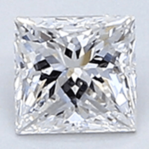 Picture of 0.25 Carats, Princess Diamond with Very Good Cut, E Color, VVS2 Clarity and Certified By CGL