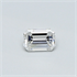 0.24 Carats, Emerald Diamond with Very Good Cut, E Color, VVS2 Clarity and Certified By CGL, Stock 1657873