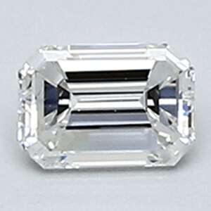 Picture of 0.24 Carats, Emerald Diamond with Very Good Cut, E Color, VVS2 Clarity and Certified By CGL
