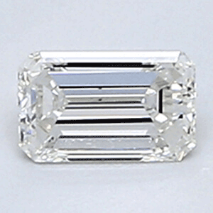 Picture of 0.24 Carats, Emerald Diamond with Very Good Cut, H Color, VVS2 Clarity and Certified By CGL
