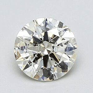 Picture of 0.50 Carats Round natural Diamond with Ideal Cut, J SI1, Certified by CGL