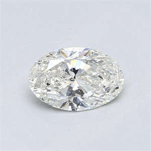 Picture of 0.52 Carats, Oval Diamond with  Cut, H Color, SI2 Clarity and Certified by GIA