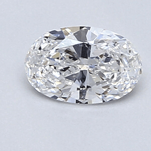 Picture of 0.34 Carats, Oval Diamond with Very Good Cut, D Color, VS1 Clarity and Certified By EGL.