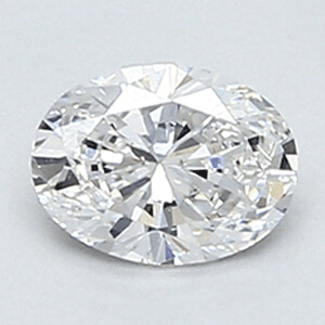 Picture of 0.35 Carats, Oval Diamond with Very Good Cut, E Color, VS1 Clarity and Certified By Diamonds-USA