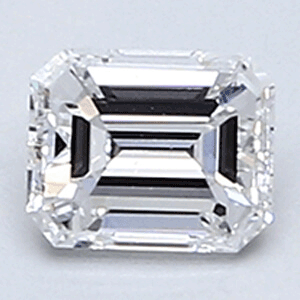 Picture of 0.29 Carats, Emerald Diamond with Very Good Cut, E Color, VS1 Clarity and Certified By CGL