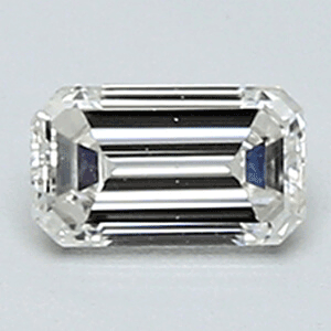 Picture of 0.25 Carats, Emerald Diamond with Ideal Cut, I Color, VVS2 Clarity and Certified By Diamonds-USA