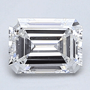 Picture of 0.36 Carats, Emerald Diamond with Ideal Cut, E Color, VVS2 Clarity and Certified By CGL