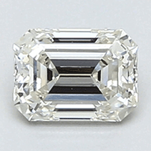 Picture of 0.36 Carats, Emerald Diamond with Very Good Cut, H Color, VS1 Clarity and Certified By CGL