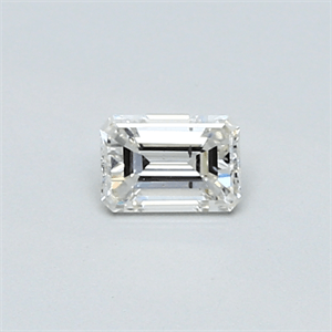 Picture of 0.25 Carats, Emerald Diamond with Very Good Cut, H Color, SI1 Clarity and Certified By CGL