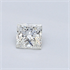 0.33 Carats, Princess Diamond with Very Good Cut, H Color, VVS2 Clarity and Certified By EGL., Stock 370216