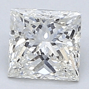 Picture of 0.33 Carats, Princess Diamond with Very Good Cut, H Color, VVS2 Clarity and Certified By EGL.