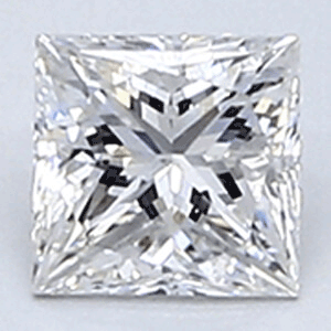 Picture of 0.31 Carats, Princess Diamond with Very Good Cut, E Color, VS1 Clarity and Certified CGL