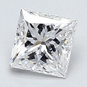 Picture of 0.38 Carats, Princess Diamond with Very Good Cut, D Color, VVS2 Clarity and Certified By Diamonds-USA