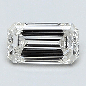 Picture of 0.30 Carats, Emerald Diamond with Ideal Cut, F Color, VVS2 Clarity and Certified By CGL