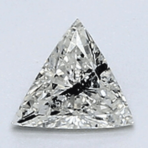 Picture of 0.21 Carats, Triangle Diamond with Very Good Cut, I Color, VS1 Clarity and Certified By CGL