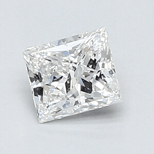 Picture of 0.35 Carats, Princess Diamond with Very Good Cut, F Color, VVS2 Clarity and Certified By EGL.
