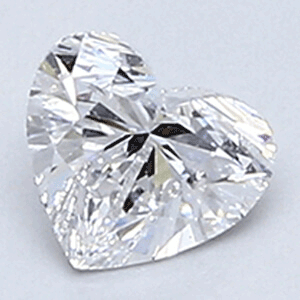 Picture of 0.31 Carats, Heart Diamond with Very Good Cut, D Color, VVS2 Clarity and Certified By CGL