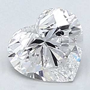 Picture of 0.3 Carats, Heart Diamond with Very Good Cut, D Color, VVS2 Clarity and Certified By Diamonds-USA