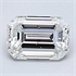 0.26 Emerald natural Diamond, Clarity VS2, Color F, certified by CGL, Stock 370302