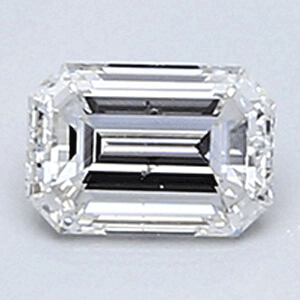 Picture of 0.26 Emerald natural Diamond, Clarity VS2, Color F, certified by CGL