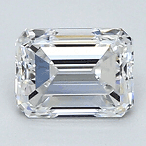 Picture of 0.51 Carats, Emerald Diamond with Very Good Cut, D Color, VVS1 Clarity and Certified By EGL
