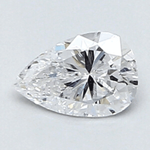 Picture of 0.23 Carats, Pear Diamond with Very Good Cut, D Color, VS2 Clarity and Certified By CGL