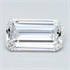 0.27 Carats, Emerald Diamond with Very Good Cut, E Color, VVS2 Clarity and Certified By CGL, Stock 370457