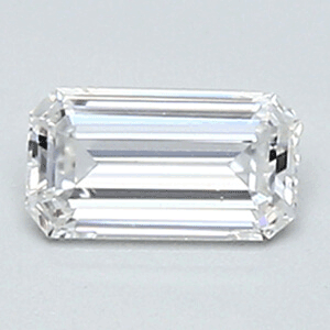 Picture of 0.27 Carats, Emerald Diamond with Very Good Cut, E Color, VVS2 Clarity and Certified By CGL