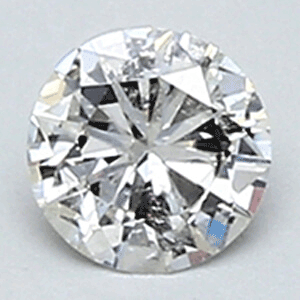 Picture of 0.19 Carats, Round natural Diamond with Very Good Cut, F Color, SI1 Clarity and Certified By CGL