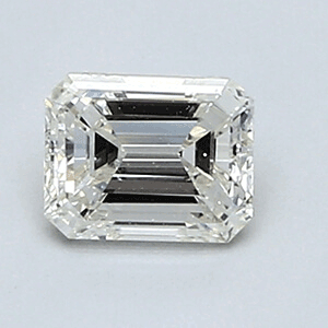 Picture of 0.46 Carats, Emerald Diamond with Very Good Cut, F Color, VS1 Clarity and Certified By EGL
