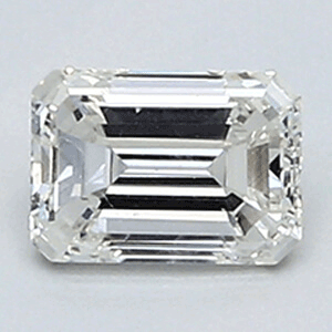Picture of 0.41 Carats, Emerald Diamond with Very Good Cut, F Color, VVS2 Clarity and Certified By EGL