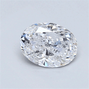 Picture of 0.82 Carats, Oval Diamond with Very Good Cut, D Color, SI2 Clarity and Certified By EGL