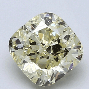 Picture of 1.06 Carats, Cushion Diamond, P color VVS2 Clarity and certified by CGL