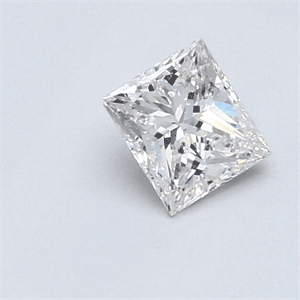 Picture of 0.55 Carats, Princess Diamond with Very Good Cut, E Color, SI1 Clarity and Certified By EGS/EGL