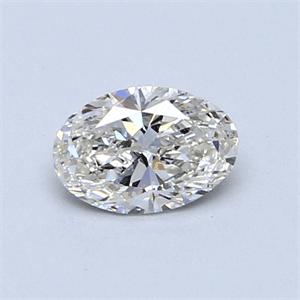 Picture of 0.52 Carats, Oval Diamond with  Cut, J Color, SI1 Clarity and Certified by GIA