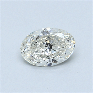 Picture of 0.50 Carats, Oval Diamond with  Cut, J Color, SI2 Clarity and Certified by GIA