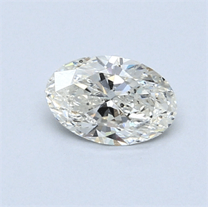 Picture of 0.51 Carats, Oval Diamond with  Cut, I Color, SI2 Clarity and Certified by GIA