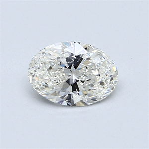 Picture of 0.50 Carats, Oval Diamond with  Cut, I Color, SI1 Clarity and Certified by GIA