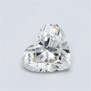 Picture of 0.61 Carats, Heart Diamond with Very Good Cut, F Color, VS2 Clarity and Certified By EGL