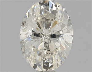 Picture of 0.71 Carats, Oval Diamond with  Cut, K Color, I1 Clarity and Certified by GIA