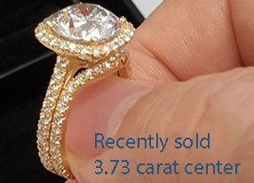 Clarity enhanced 3 carat in a halo bridal set-1